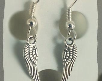 Earthy Tiebetan Style Earings: Angel wing earrings