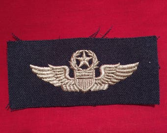 U.S Air Force 1950's/1960's Command Pilot Wing Cloth Version