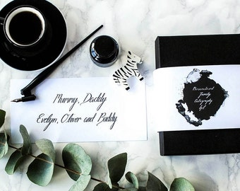 Personalised Family Calligraphy Kit