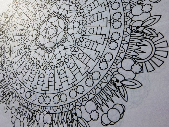 Mindfulness Coloring Pages Pdf : Mandala coloring page bunny clearing printable easter