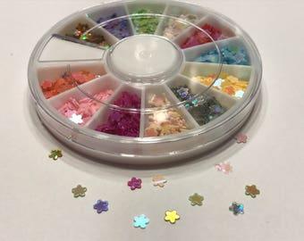 1200 piece shinny flower nail art wheel, 4 mm (B5)