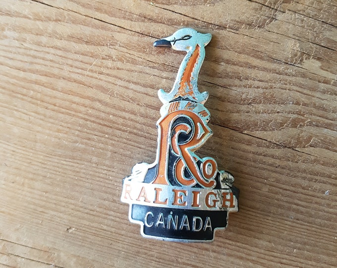 1960's Original Raleigh Canada Heron Bike Badge