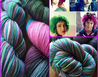 In Lesbians With You -- Sock yarn/ 462yds