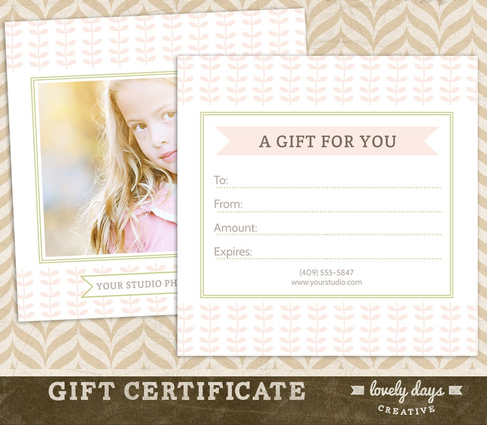 Photography gift certificate template for professional zoom 1betcityfo Images