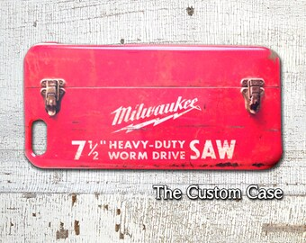 Old Tool Box IPhone Case, Vintage Red Tool box Iphone Case, Industrial Iphone case, Distressed Red Iphone Case, Iphone 4, Iphone 5, Iphone 6