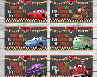 Disney Cars Party Tags Chalkboard - Cars Goody Bag Tags - Disney Cars Printables - Cars Party Favor - Cars Happy Birthday - Cars Birthday