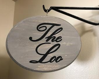 The Loo Sign (Light Grey) (7x9)