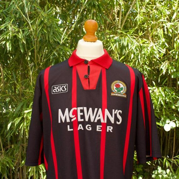 AASICS X BLACKBURN ROVERS Away Football Shirt 1994-95 Size - Extra Large GSRg4uJ