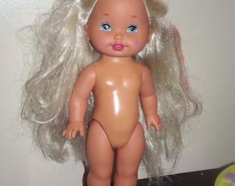 """Vintage 1993 Mattel Lil Miss Candi Stripes 13"""" doll"""