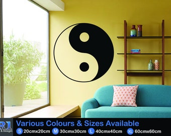 Yin & Yan Symbol Wall Decal Sticker