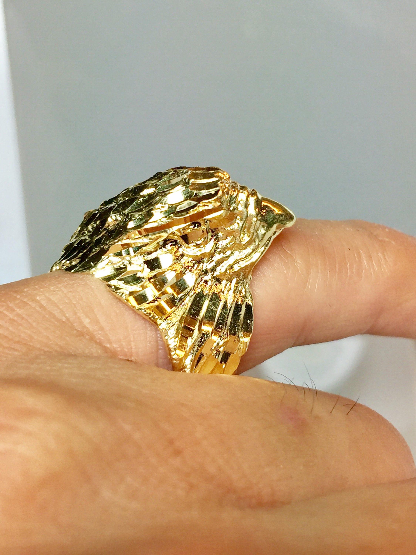 14k Gold Men American Eagle Ring Men Gold Eagle Ring Men