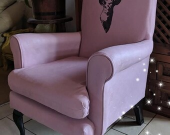 unique pink stag chair