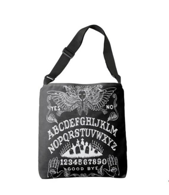 Ouija Board Cross Body Bag in black