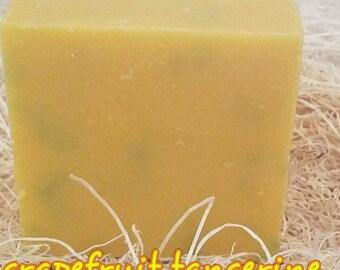 Grapefruit tangerine bar soap