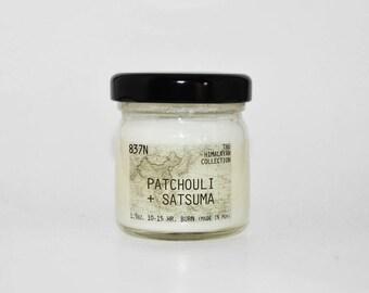 Patchouli + Satsuma, Mini 1.25 oz, Scent Soy Candle