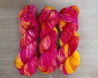 READY TO SHIP Hand-dyed Basic Sock Yarn in Pansy Fambée