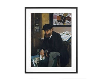 """Edgar Degas """"The Collector of Prints"""" 1866 Impressionist Oil Painting High Quality Print"""