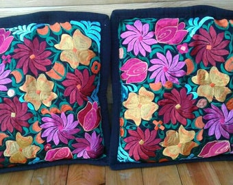 Mexican Embroidered Pillow casses/ 1 par included /