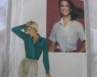 Simplicity 9540 Shirt Top Pattern 1980