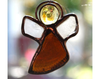 Beach Angel - Beach-Glass Suncatcher