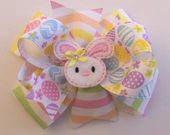 Easter Hair Bow, Easter Bow, Easter Egg Hair Bow, Easter Gift, Spring Hair Bow, Easter Egg Bow, Bunny Bow, Bunny Hair Bow