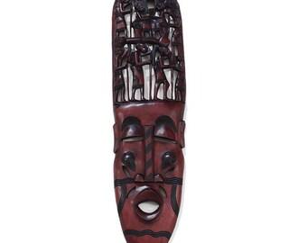 """Over-Sized Kenyan Family Tree Mask 36"""""""