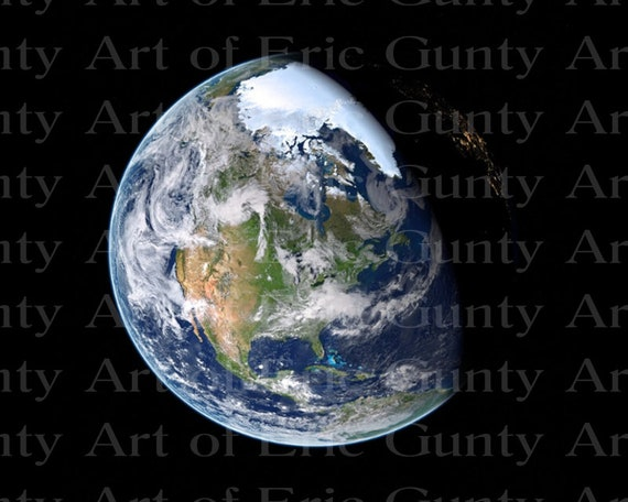 Earth From Space Birthday - Edible Cake and Cupcake Topper For Birthdays and Parties! - D24019