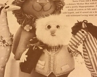 APRILSALE Vintage 9 Stuffed Toys from the November 1961 issue of Woman's Day Magazine