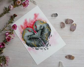 Raven Heart Postcard