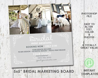 Bridal Marketing Board Mini Sessions, Photoshop Template - M2W001