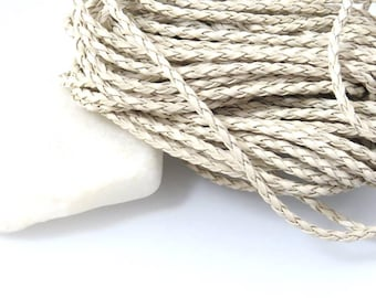 Sand X 3 meters of braided leather cord
