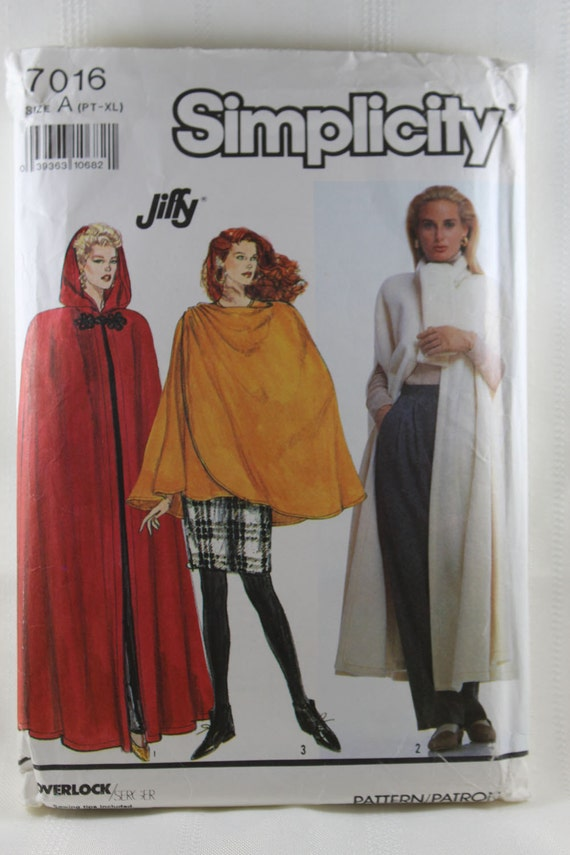 Simplicity 7016, Misses\' Cape and Wrap Cape Sewing Pattern, Sewing ...