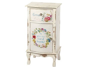 Wooden Bedside Cabinet / Table, Shabby Chic, Slogan, Be Your Own Kind Of Beautiful