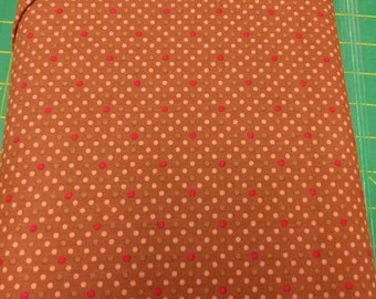 Chocoholic fabric. brown polka dots modern. quilters cotton quilting Exclusively Quilters 1011