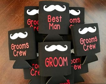 Groomsman Can Coolers, Groomsmen Gift, Wedding Party Gift, Bachelor Party Favors, Groomsmen Gifts, Best Man, Groom, Wedding Can Cooler