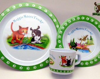 FEEL PAWSOME! Eco-friendly! MaggieMooseTracks FUN Dishes! Safe!