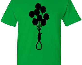 Bunch of Balloons with Noose T-Shirt - Funny Stuff