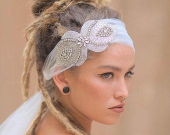 Bridal Headpiece, Crystal Headpiece, Wedding Headpiece, Bridal Accessories, Wedding Accessories, Bridal Hair piece, Wedding Sash Appliqué