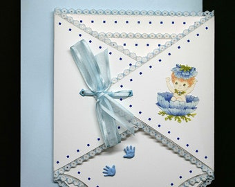 White and blue mix for a birth baptism