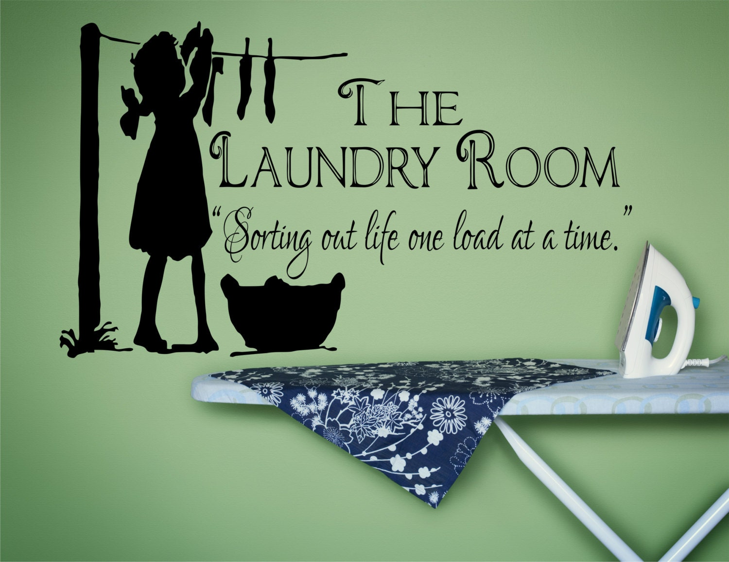Laundry Decal Wall Decor Laundry Room Decor Laundry Sign Laundry Room Decal Laundry