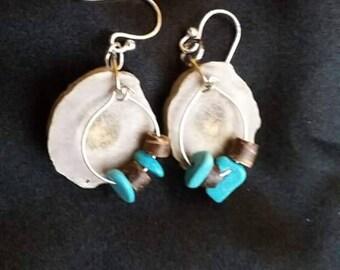 Deer Antler Earrings Handmade