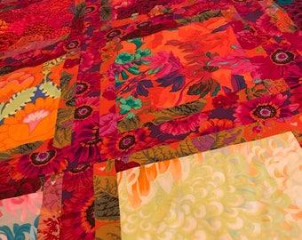 Reds and Orange Color Burst Quilt