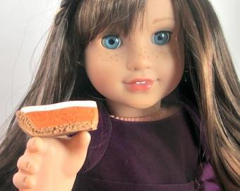 American Girl Doll Food Polymer Clay Miniature Food Pumpkin Pie Cheesecake  American girl comfort foods 1\3 scale  handmade