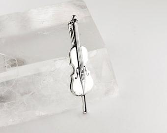 Violin Sterling Silver Pin