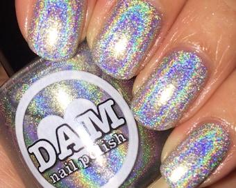Holographic Nail Polish - Holo Nail Polish - Silver Nail Polish - Fingernail Polish - Indie Nail Polish - 5 Free Nail Polish