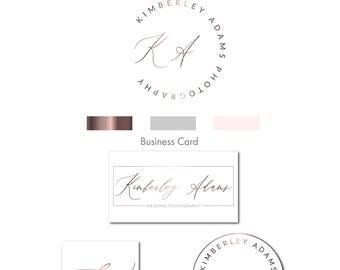 Elegant Logo, Photography Logo, Photography Watermark, Logo design, Gold logo, Rose gold logo Logo, Modern,Watermark, Logo, Branding Kit