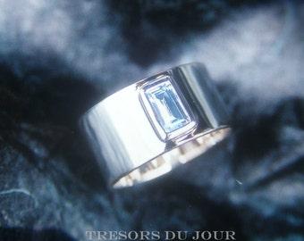 Minimalist Engagement Ring Wide CIGAR BAND ENGAGEMENT Wedding
