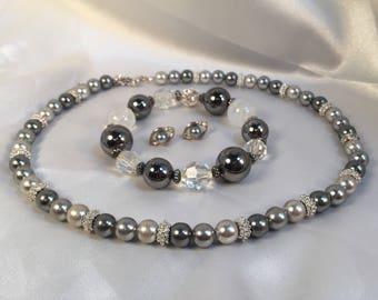 Napier Necklace Earring and Bracelet set
