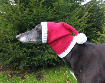 Greyhound & Galgo Santa Hat