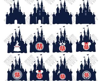 Disney Castle svg - Disney Castle vector - Disney Castle monogram digital clipart for Print, Design or more , files download svg, png, dxf